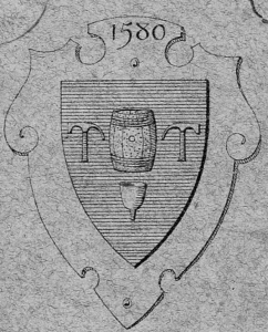 Coat of arms (uncolored) of the Vinaigriers of Orléans.