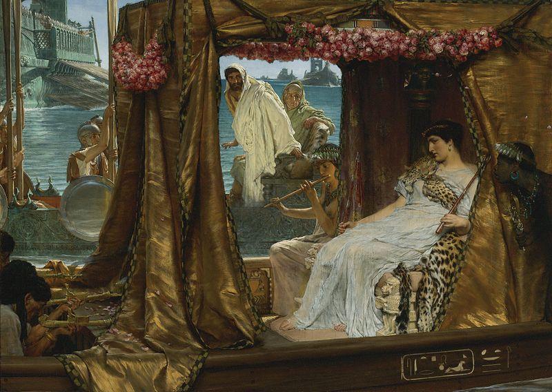 The Meeting of Antony and Cleopatra, 41 B.C. Sir Lawrence Alma Tadema (1885)