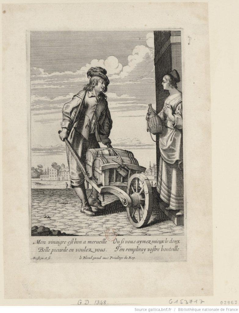 A vinegar merchant making a house call.