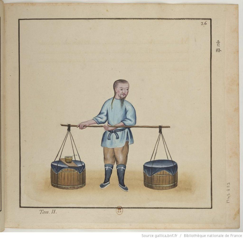 A French sketch of a vinegar peddler in 19th century Beijing