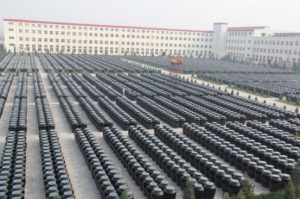 Field of aging vinegar vats in Taiyuan, Shanxi province