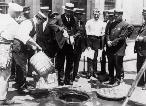 Dumping booze in Prohibition