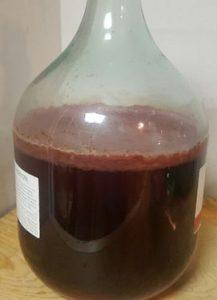 Vinegar mother in a jar