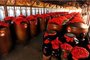 Jars of aging Shanxi vinegar
