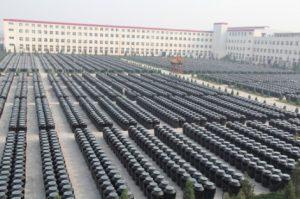 Field of aging vinegar vats in Taiyuan, Shanxi province